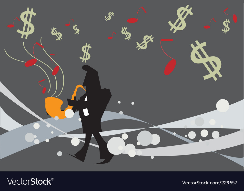 Music money vector | Price: 1 Credit (USD $1)