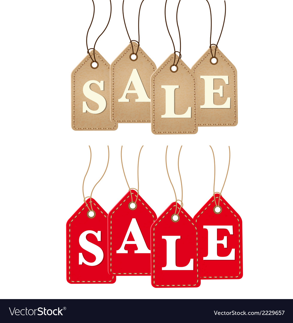 Retro paper sale tags vector   Price: 1 Credit (USD $1)