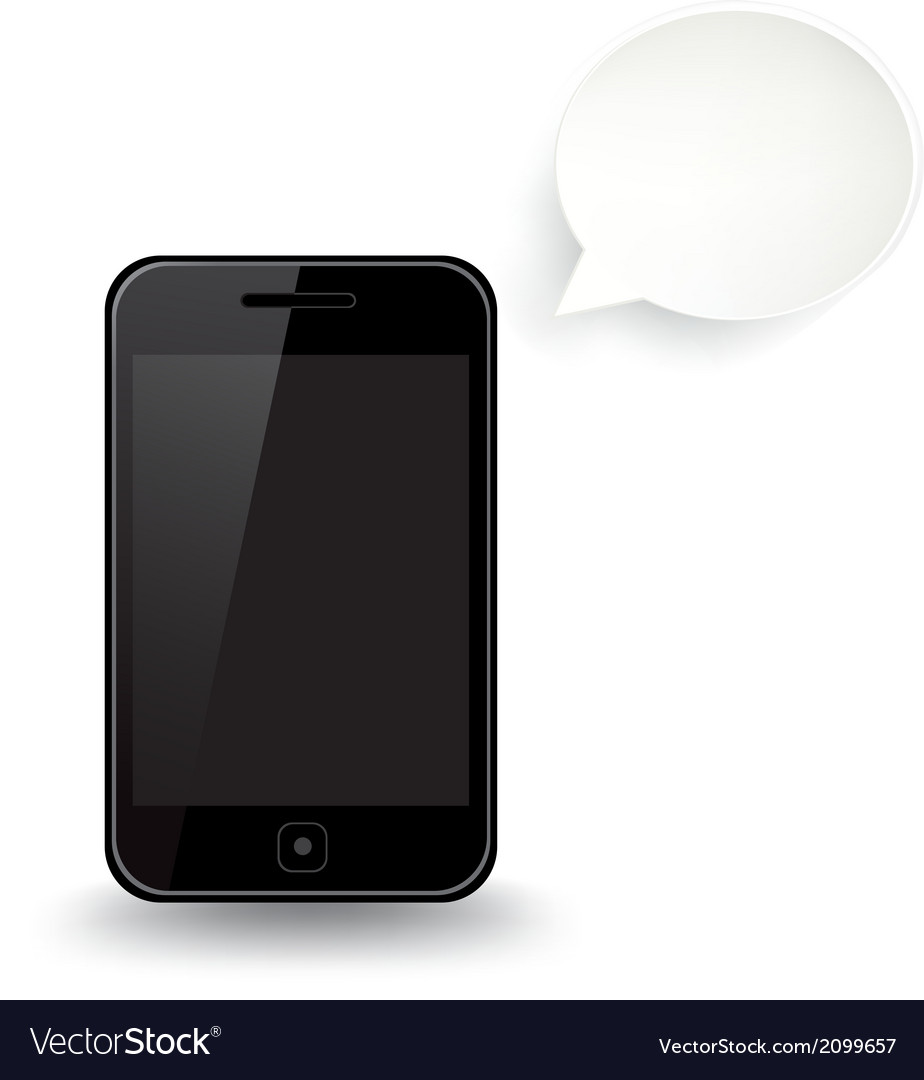 Smart phone speech bubble vector | Price: 1 Credit (USD $1)