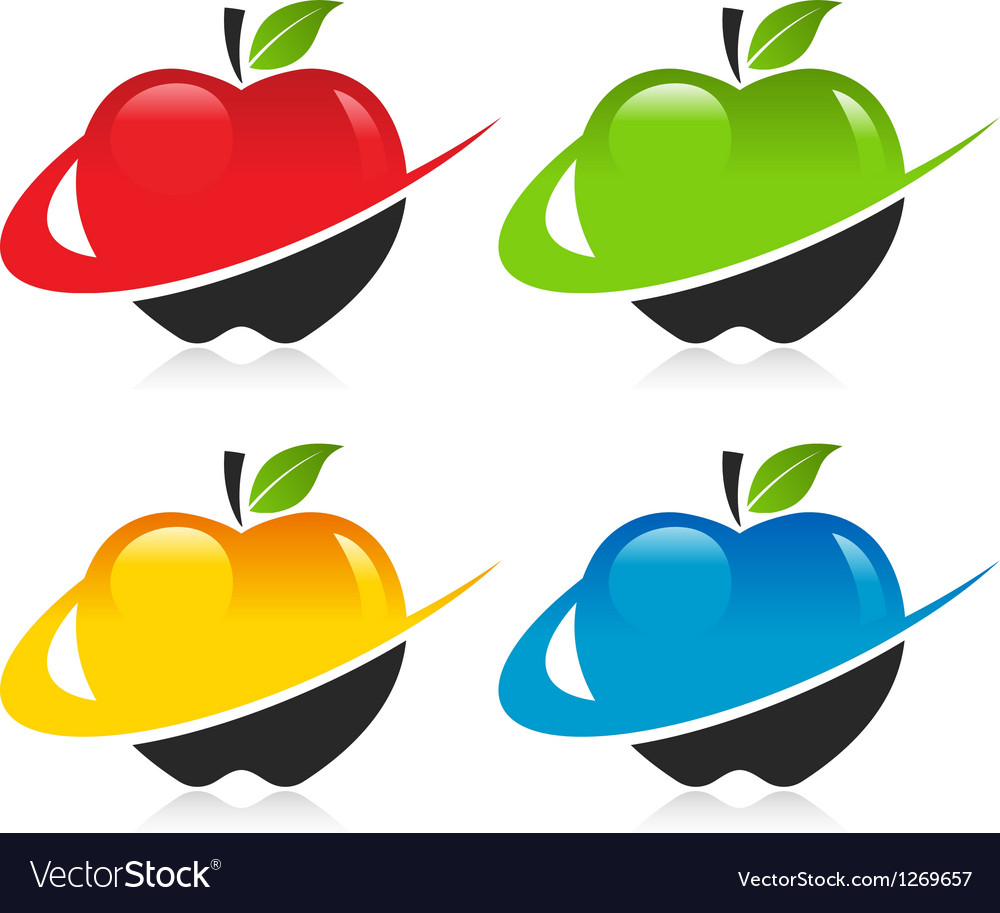 Swoosh apple icons vector | Price: 1 Credit (USD $1)