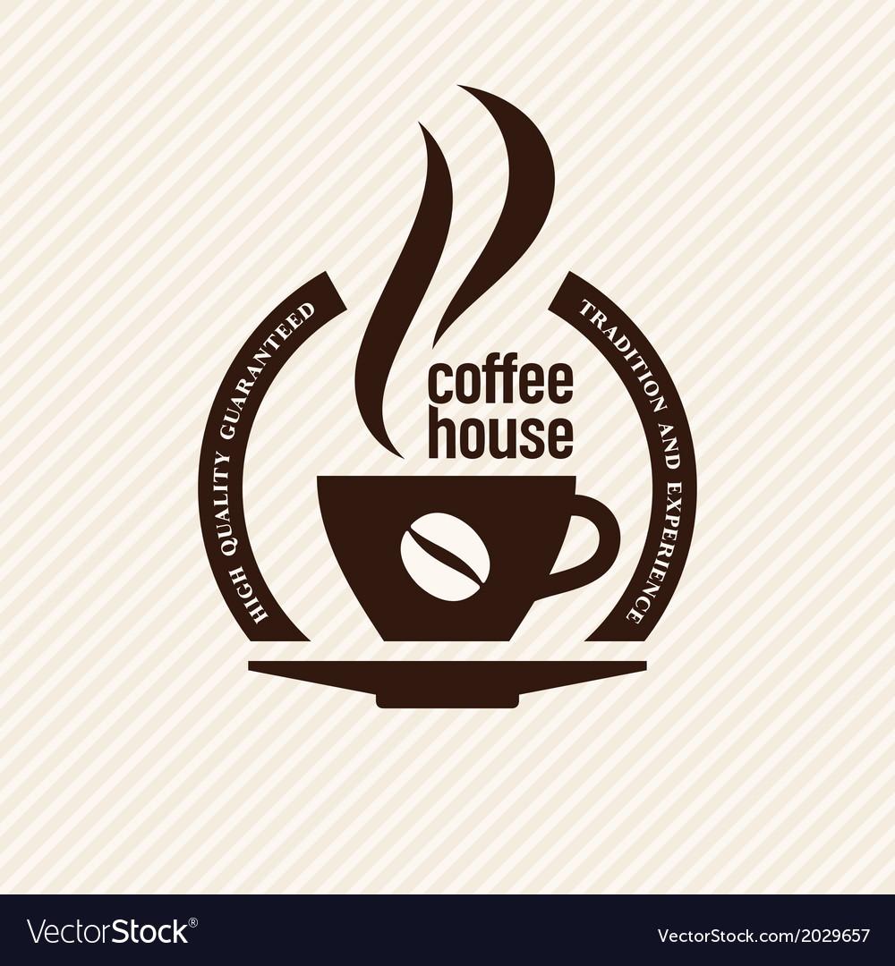 Vintage coffee label vector
