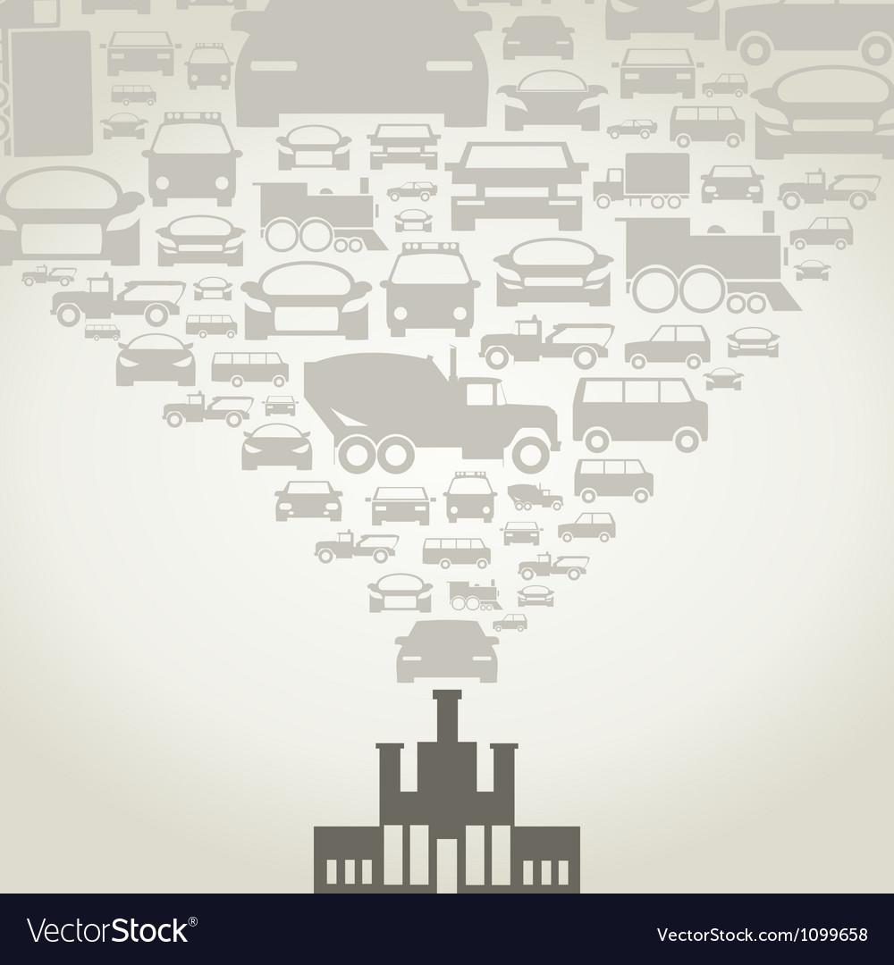 Automobile factory vector | Price: 1 Credit (USD $1)