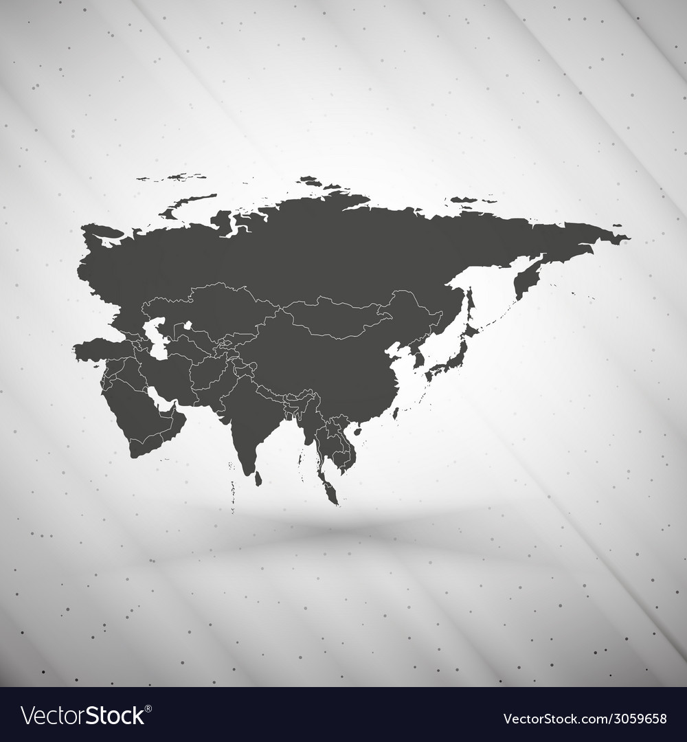 Eurasia map on gray background grunge texture vector | Price: 1 Credit (USD $1)