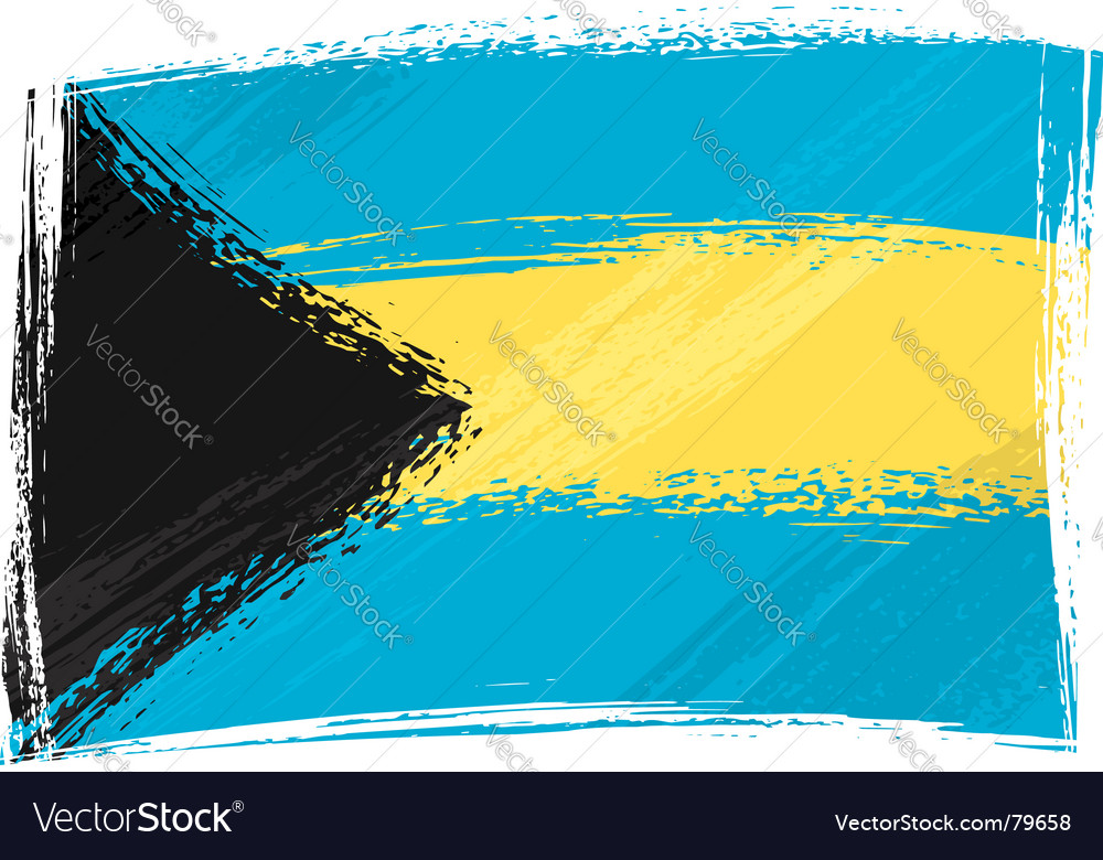 Grunge bahamas flag vector | Price: 1 Credit (USD $1)