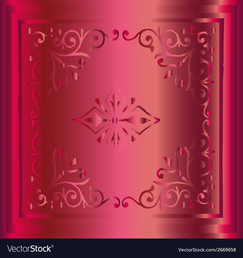Hand drawn sketch pink background retro floral and vector | Price: 1 Credit (USD $1)