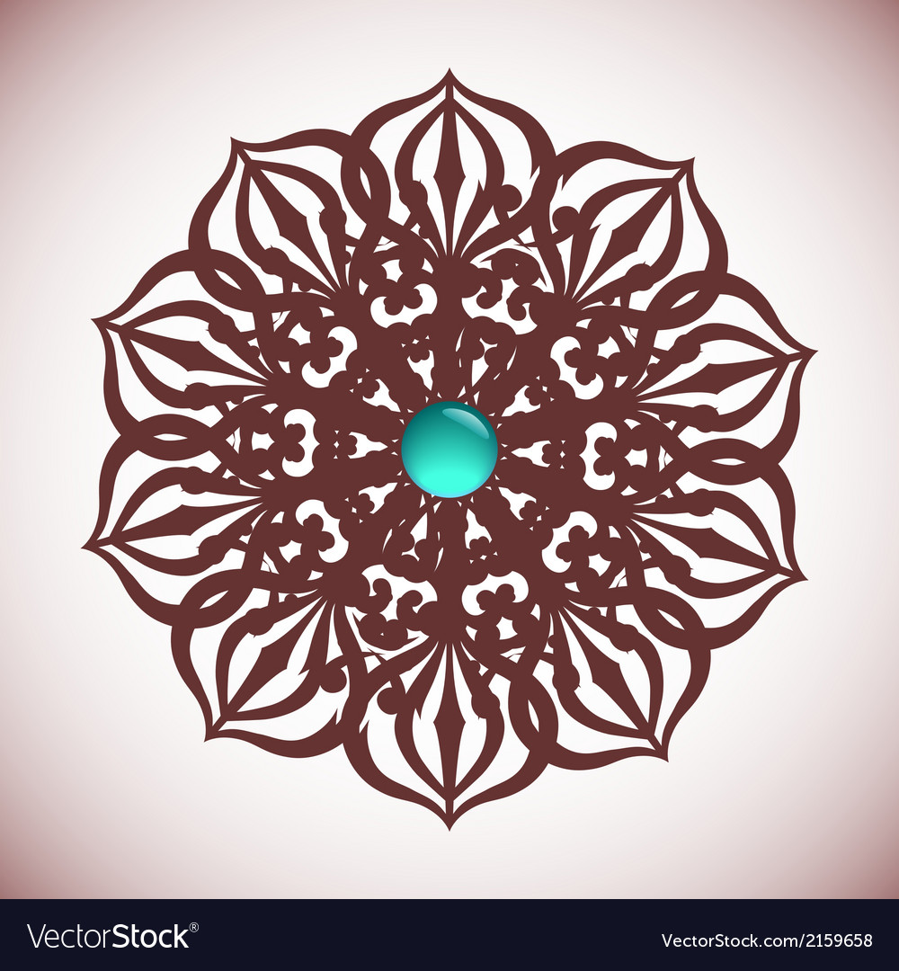 Intricate rosette vector | Price: 1 Credit (USD $1)