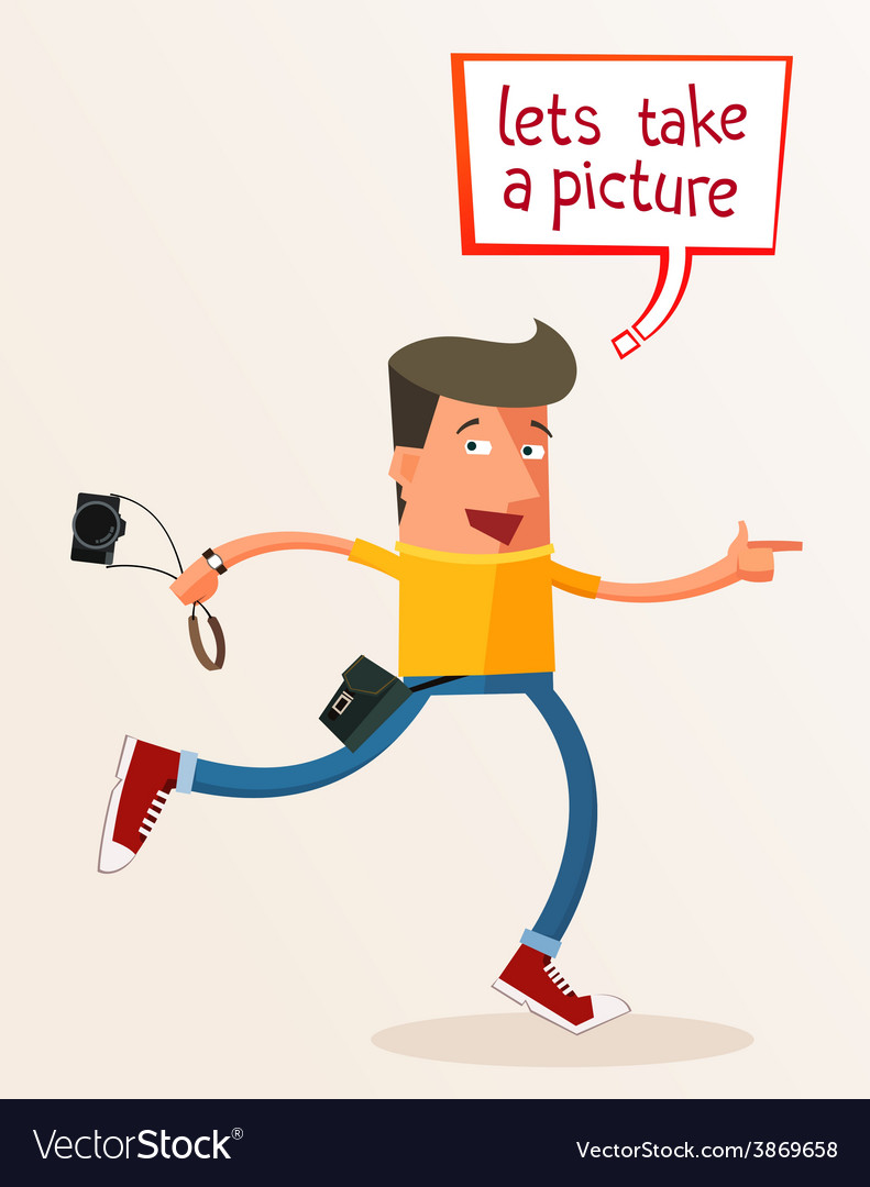 Lets take a picture vector | Price: 1 Credit (USD $1)