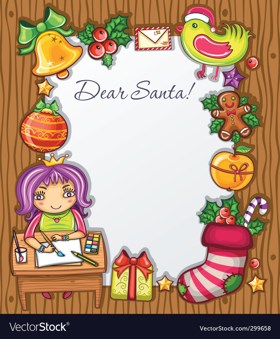 Letter to santa vector | Price: 5 Credit (USD $5)
