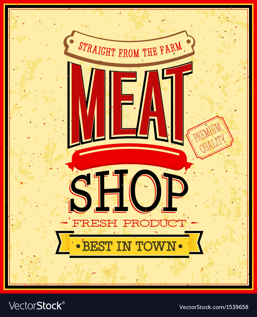 Meat shop design vector | Price: 1 Credit (USD $1)