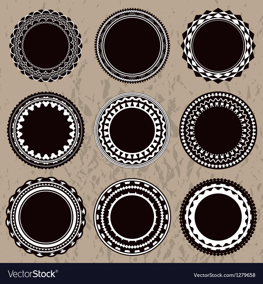 Ornate badges vector | Price: 1 Credit (USD $1)