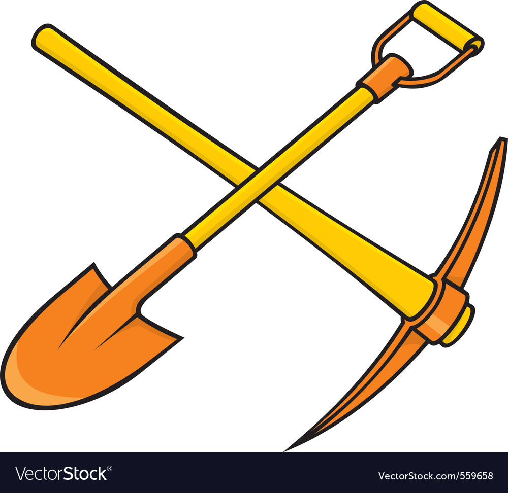 Pickaxe and shovel vector | Price: 1 Credit (USD $1)