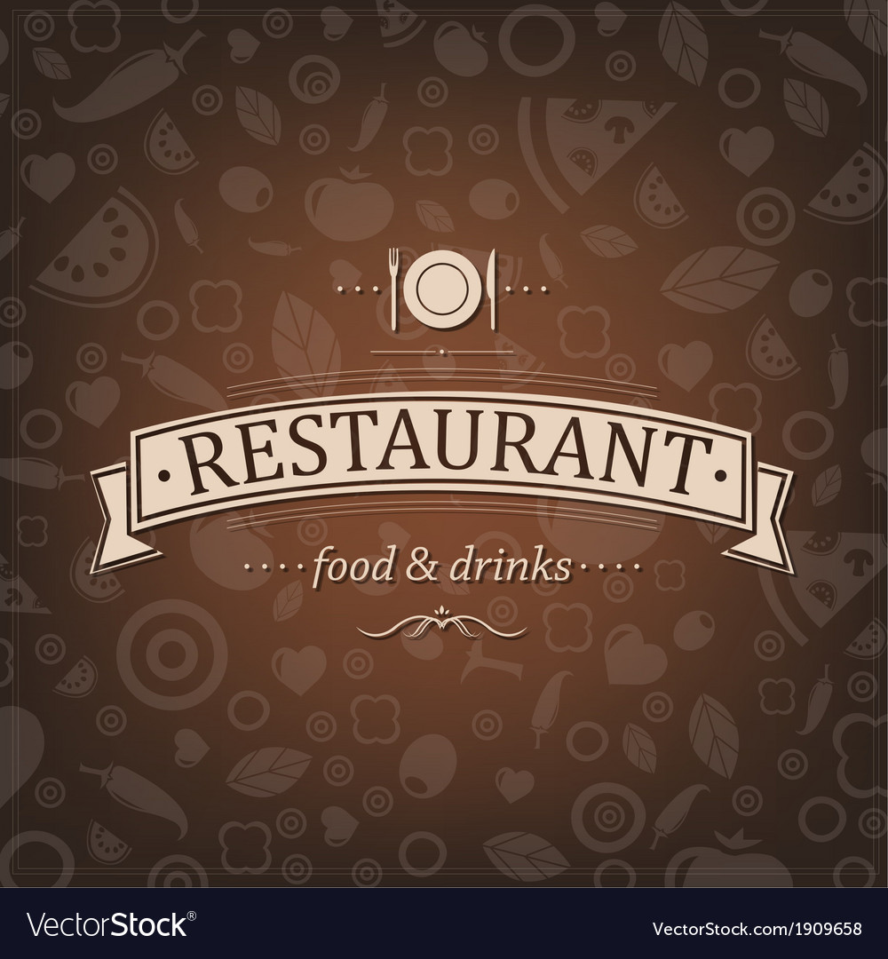 Retro brown restaurant menu vector | Price: 1 Credit (USD $1)
