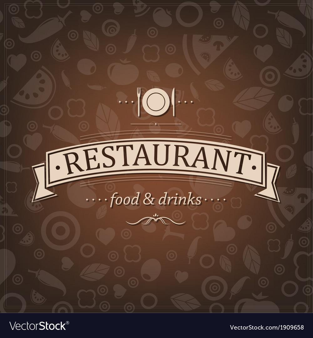 Retro brown restaurant menu vector | Price: 1 Credit (USD $1)