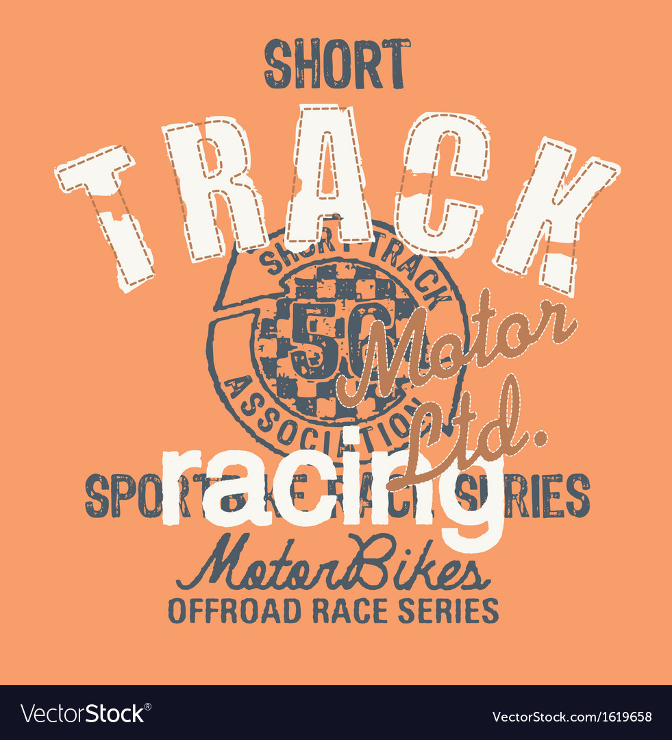 Short track racing vector | Price: 1 Credit (USD $1)