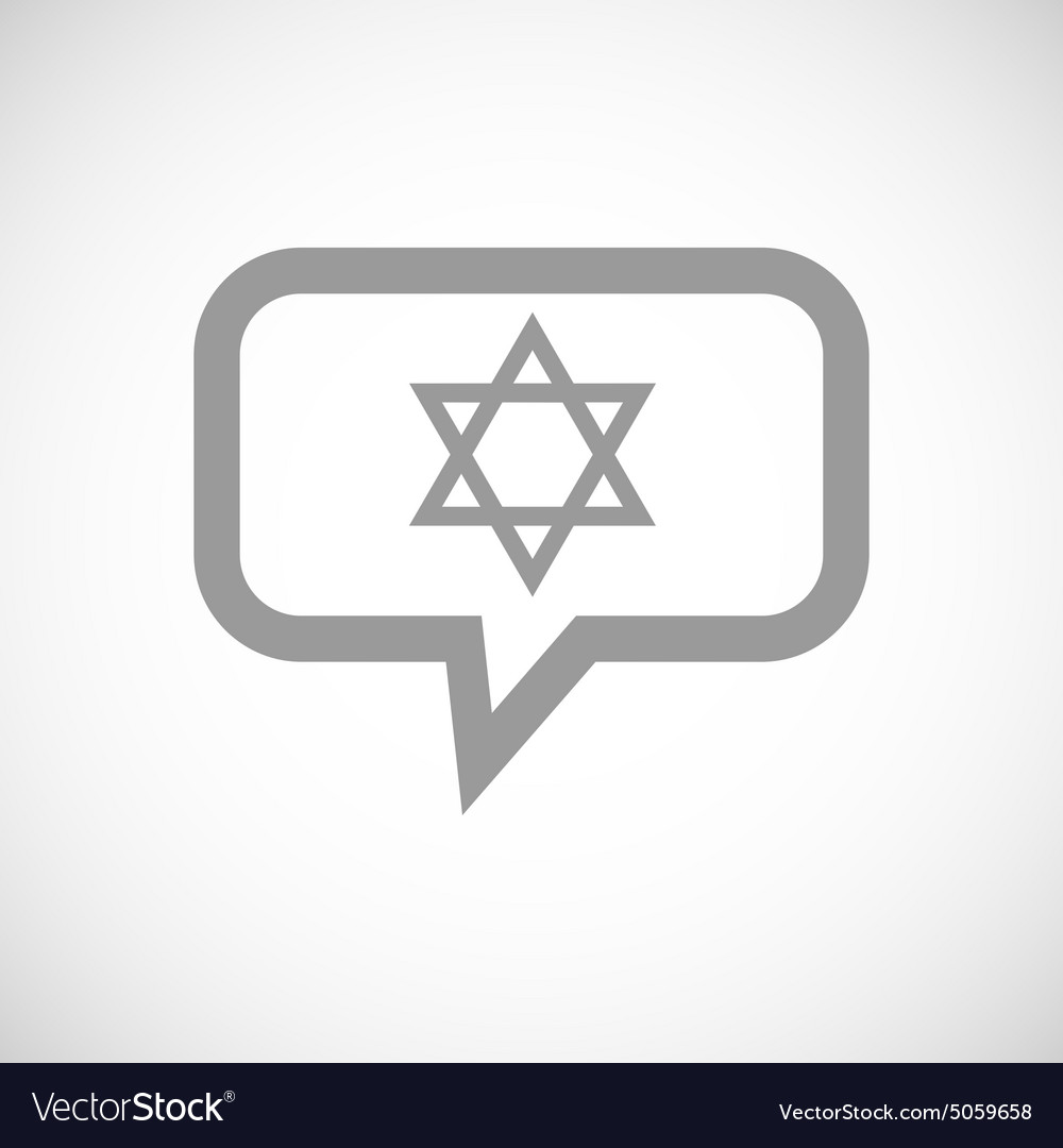 Star of david grey message vector