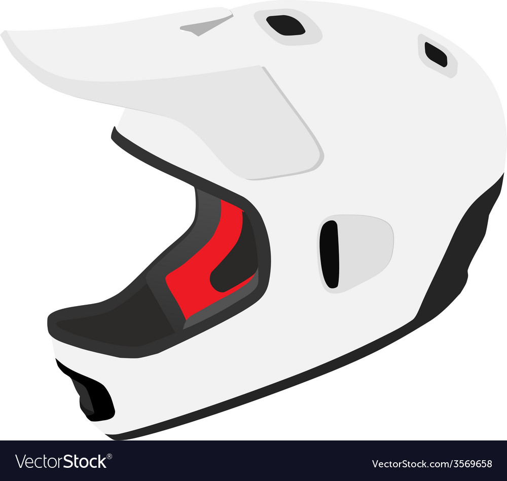 White snowboard helmet vector | Price: 1 Credit (USD $1)