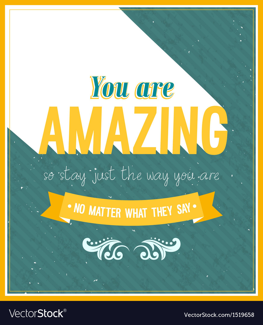 You are amazing typographic design vector | Price: 1 Credit (USD $1)