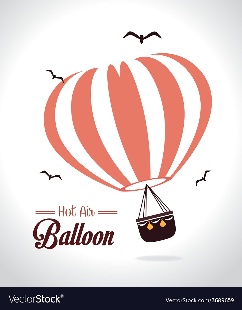 Airballoon design over white background vector | Price: 1 Credit (USD $1)