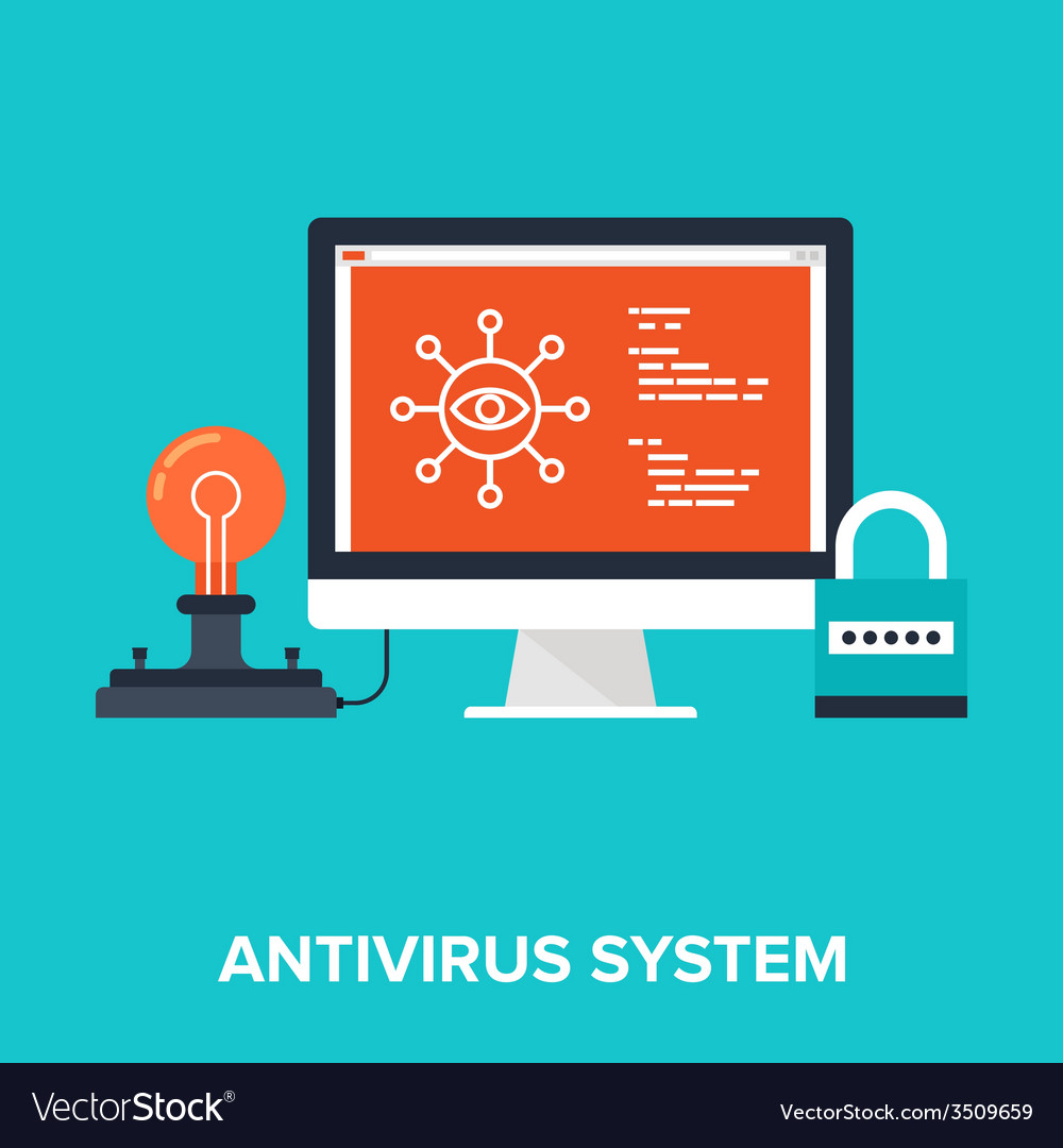 Antivirus system vector | Price: 1 Credit (USD $1)