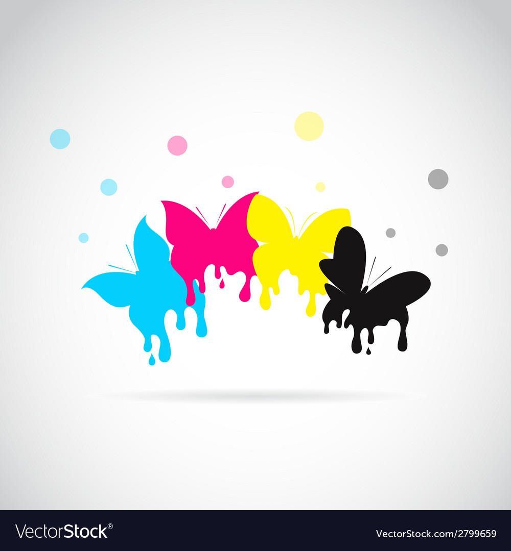 Butterfly cmyk vector | Price: 1 Credit (USD $1)