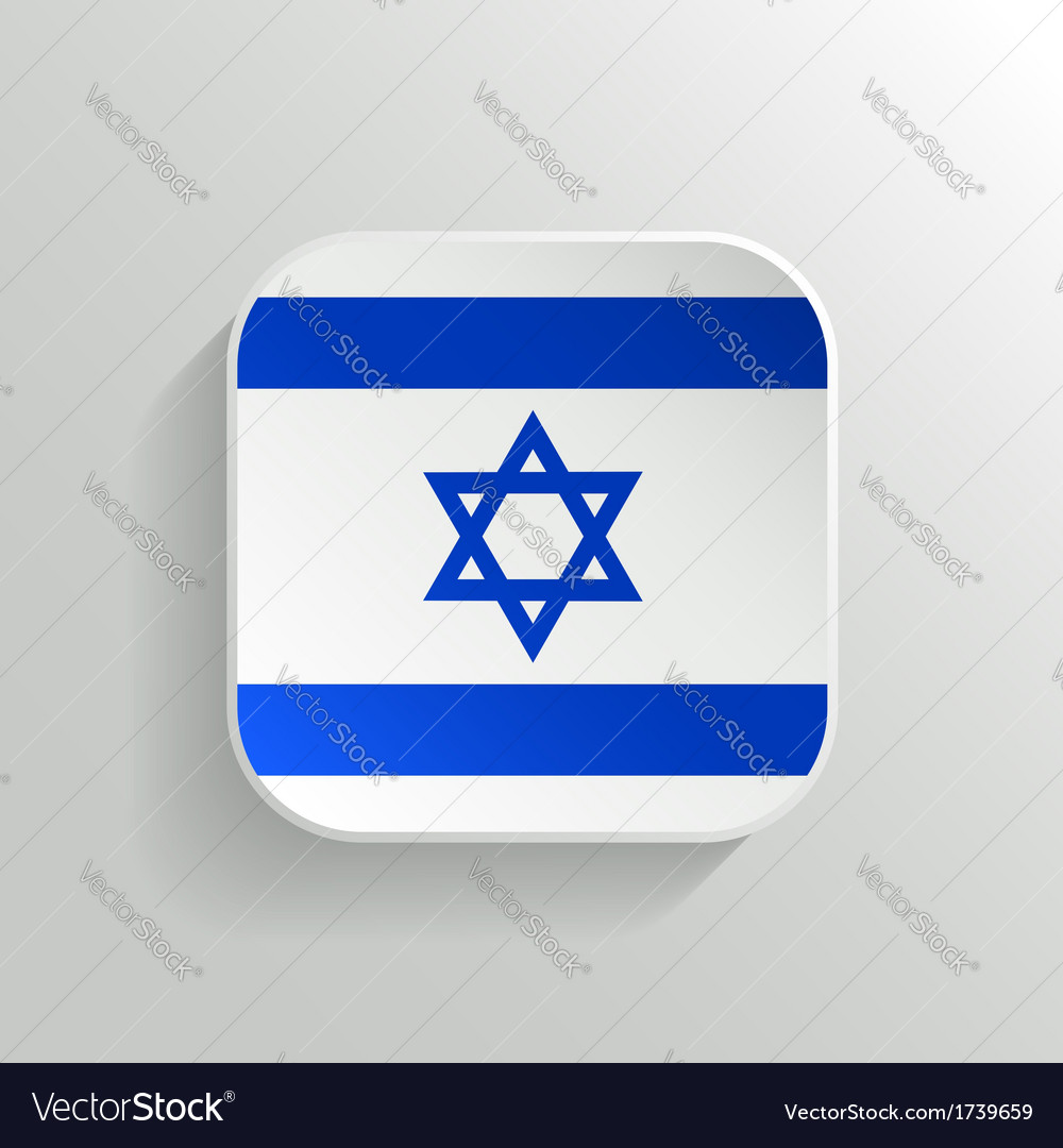 Button - israel flag icon vector | Price: 1 Credit (USD $1)