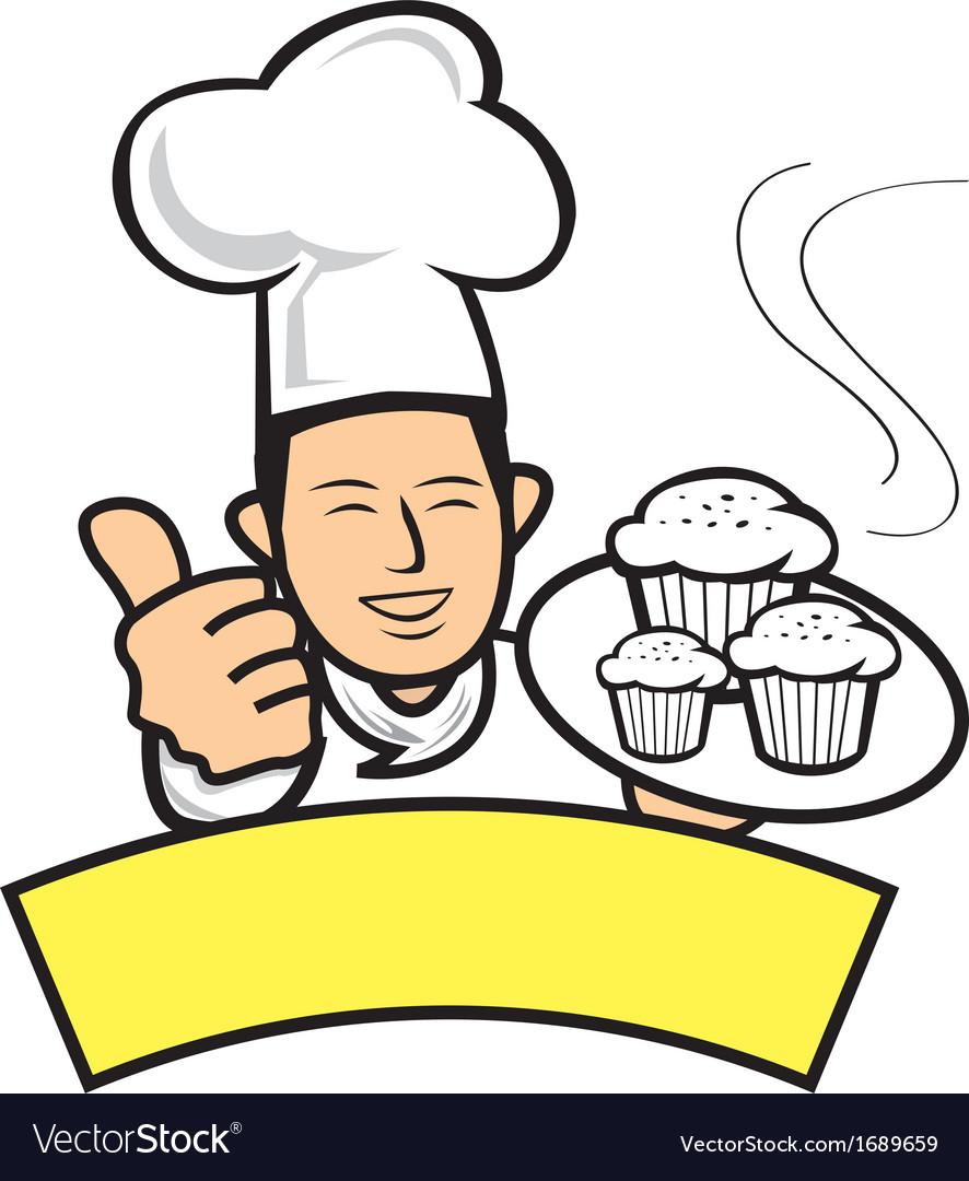 Cartoon baker vector | Price: 1 Credit (USD $1)