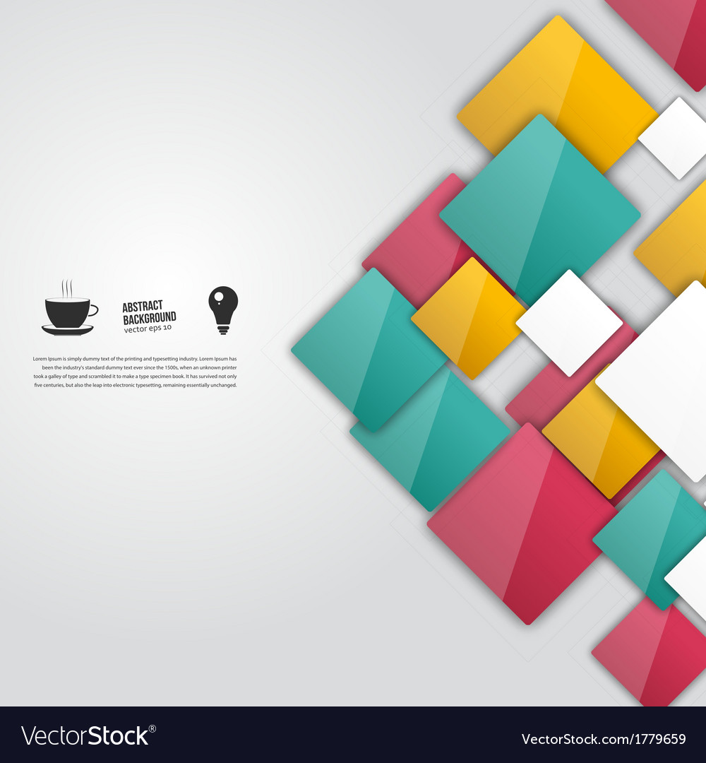 Color squares abstract background vector | Price: 1 Credit (USD $1)