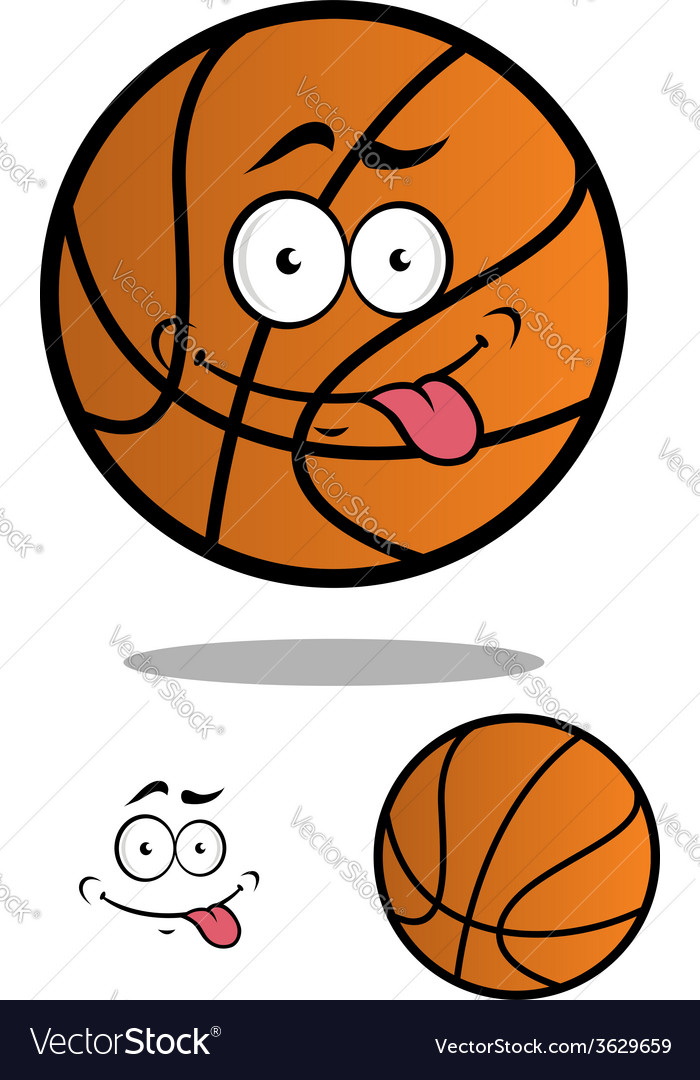 Funny cartooned basketball ball vector | Price: 1 Credit (USD $1)