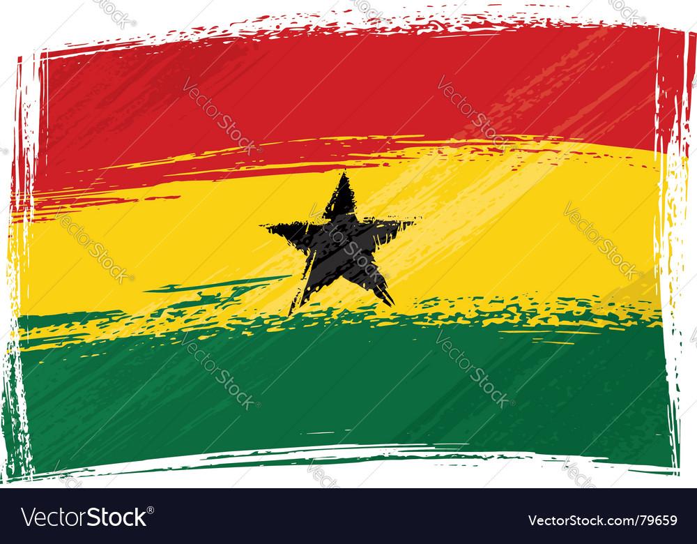 Grunge ghana flag vector | Price: 1 Credit (USD $1)