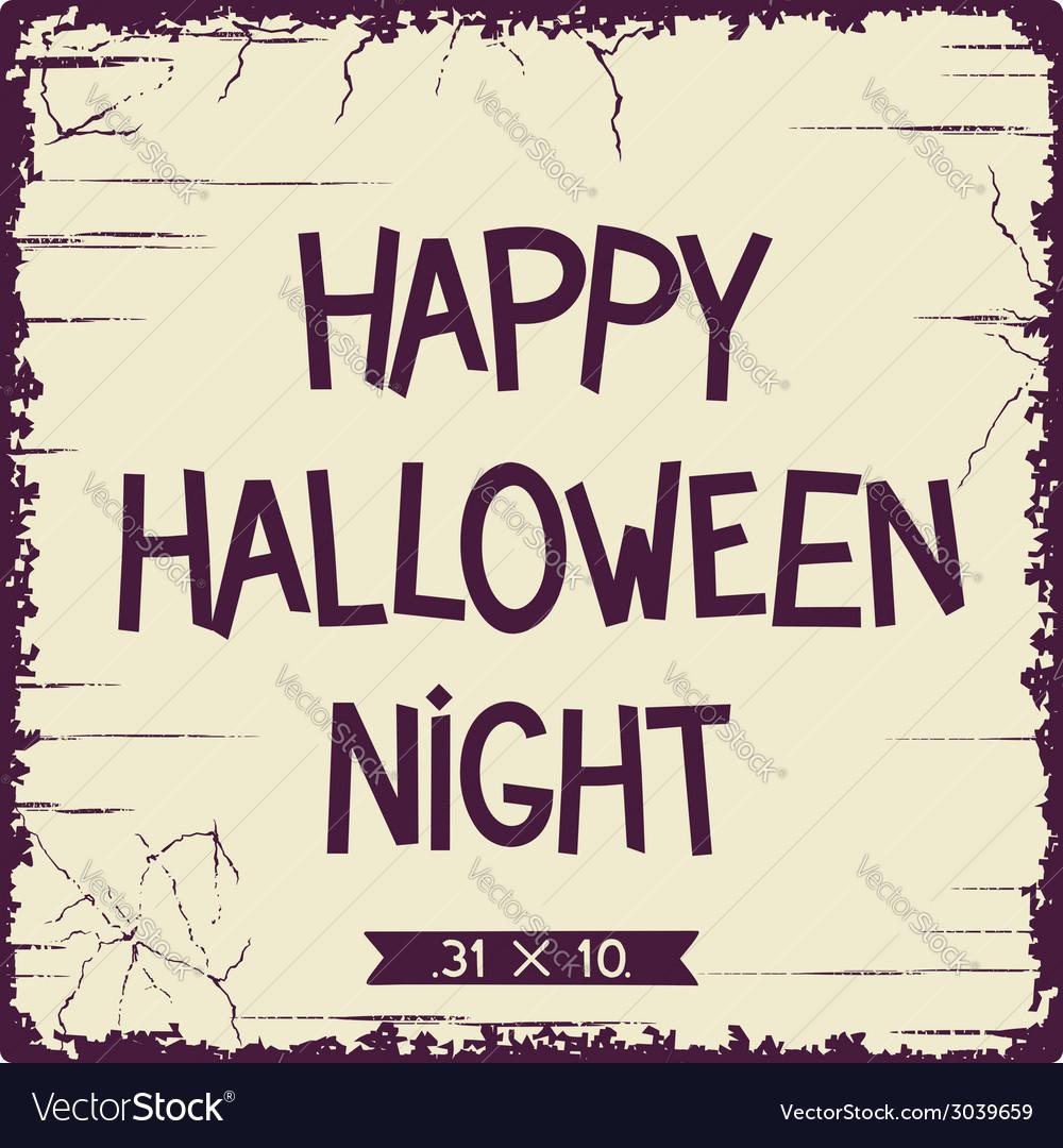 Halloween postcard design vector | Price: 1 Credit (USD $1)