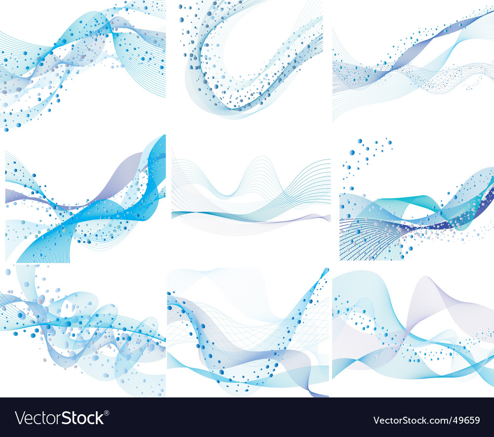 Set of water background vector | Price: 1 Credit (USD $1)