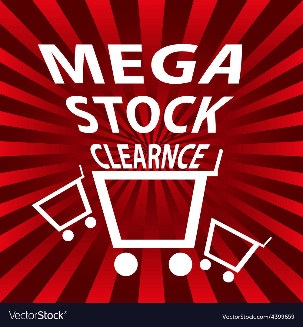 Stock clearance sale background vector | Price: 1 Credit (USD $1)