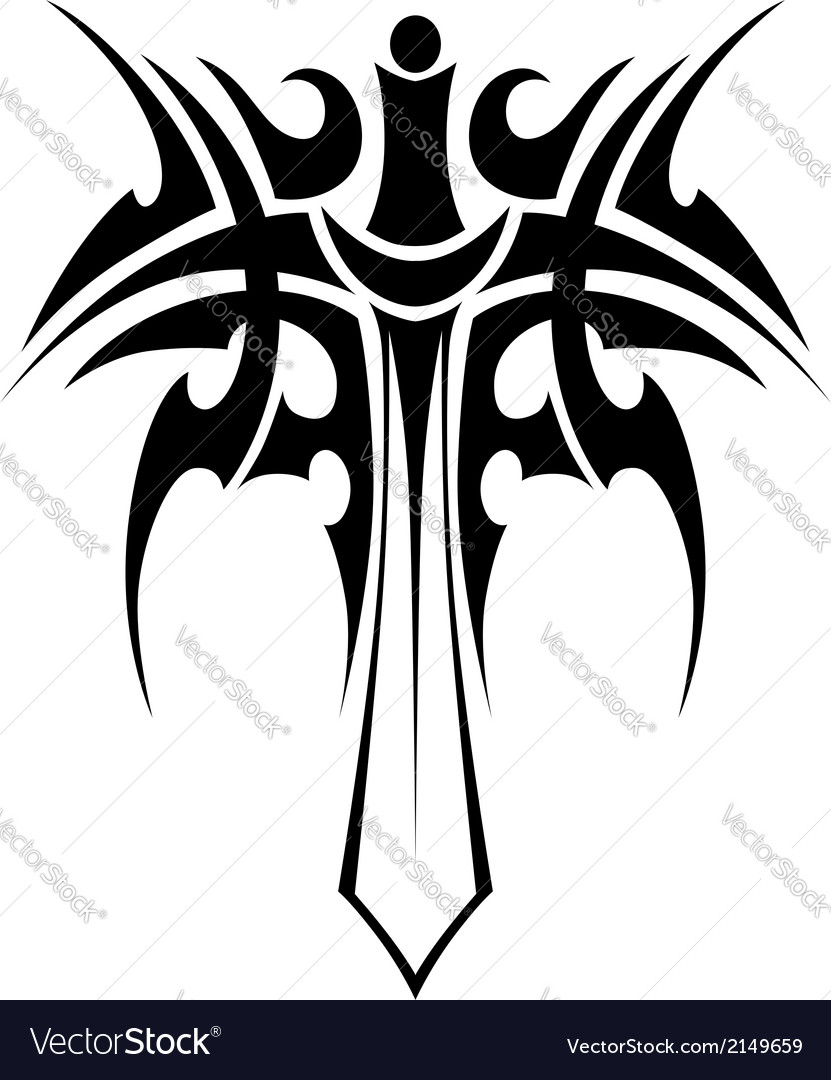 Tribal tattoo with sword vector | Price: 1 Credit (USD $1)