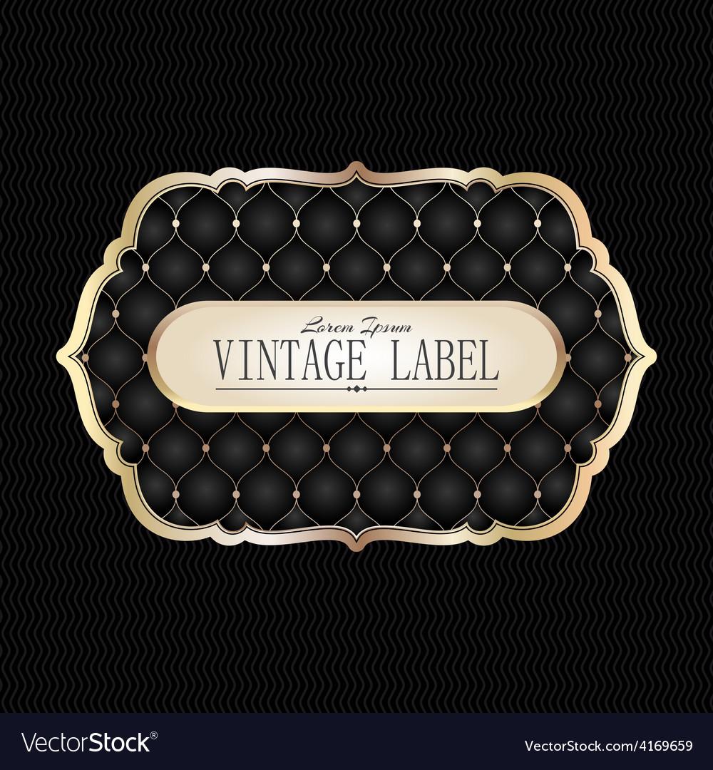 Vintage golden label vector   Price: 1 Credit (USD $1)