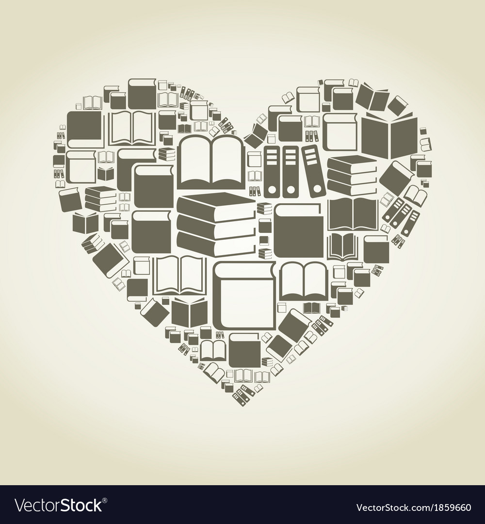 Book heart vector | Price: 1 Credit (USD $1)