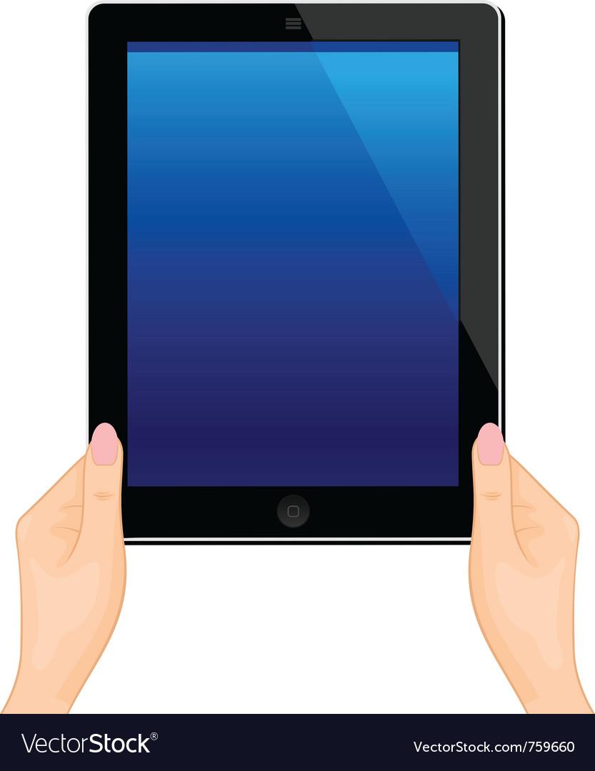Computer tablet vector | Price: 1 Credit (USD $1)
