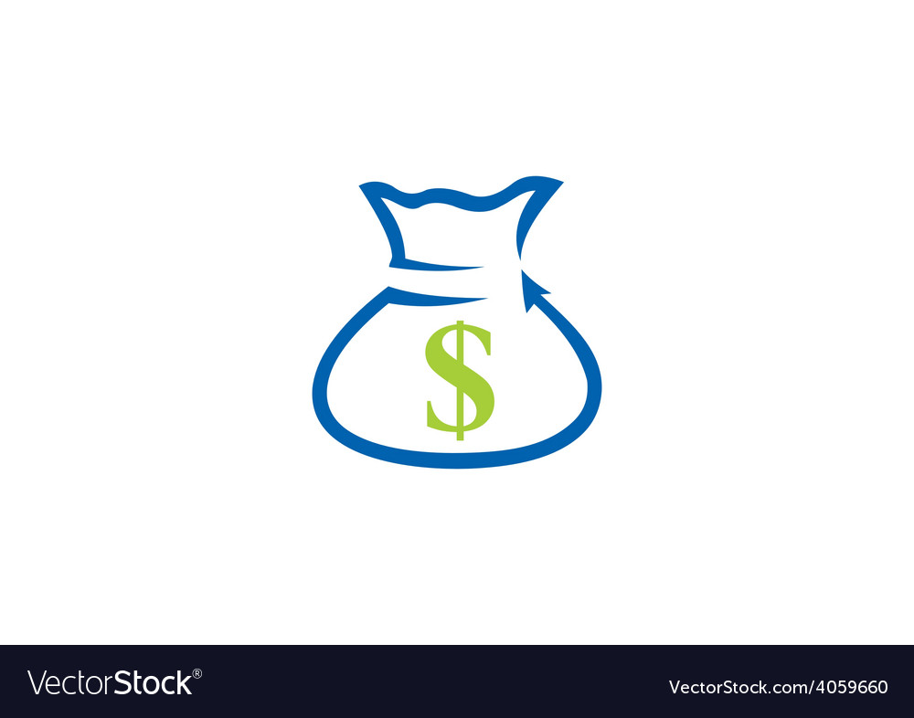 Dollar bag finance bank logo vector | Price: 1 Credit (USD $1)
