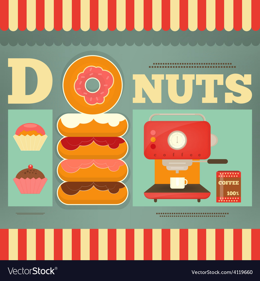 Donuts vector | Price: 3 Credit (USD $3)
