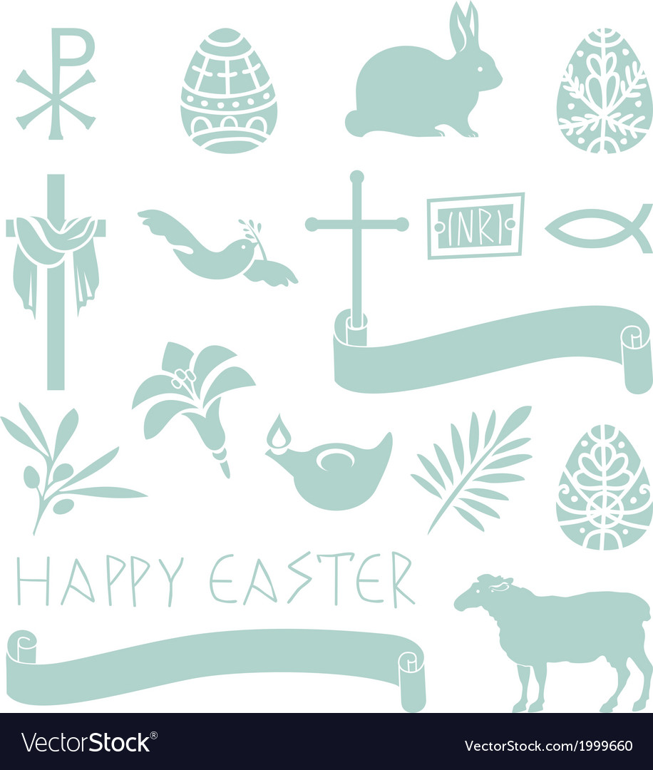 Easter symbols vector | Price: 1 Credit (USD $1)
