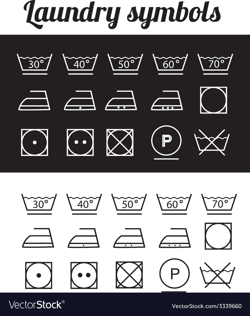 Laundry symbols vector | Price: 1 Credit (USD $1)