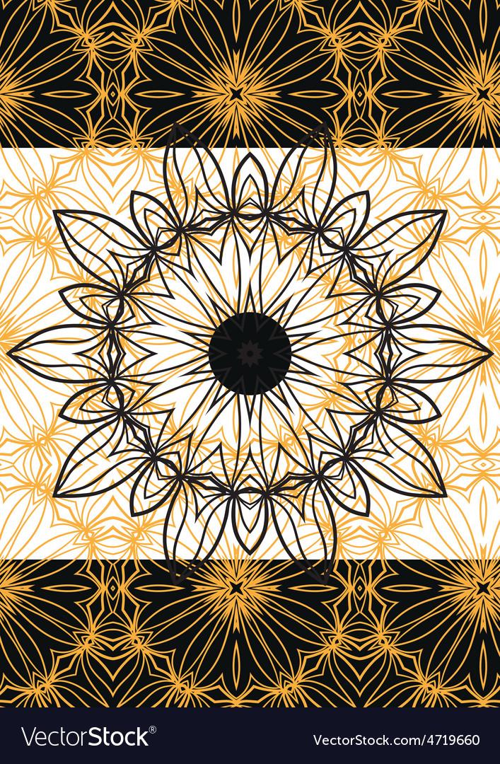 Mandala frame vector | Price: 1 Credit (USD $1)