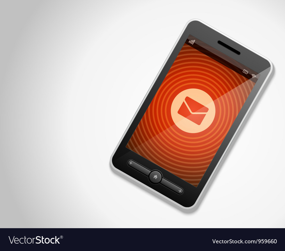 Mobile phone and incoming mail icon vector | Price: 1 Credit (USD $1)