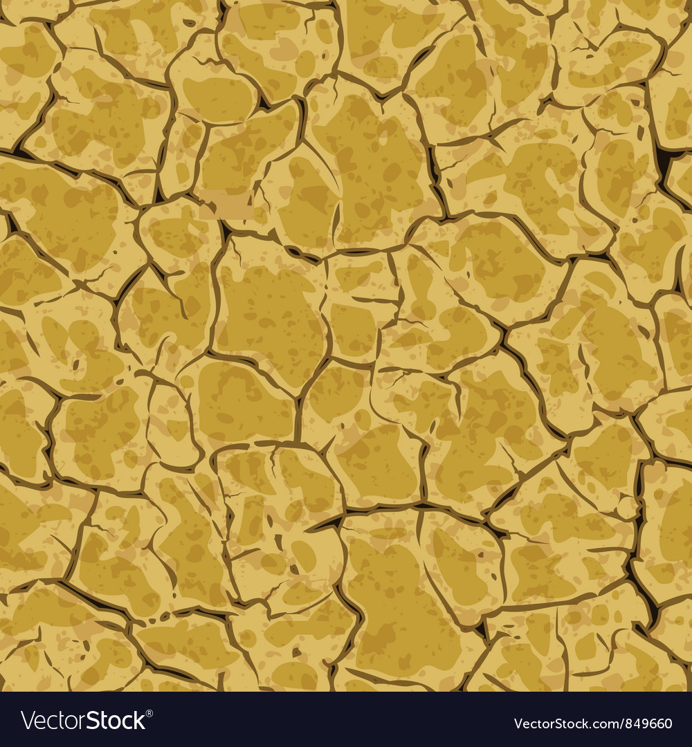 Seamless cracked ground background pattern vector | Price: 1 Credit (USD $1)