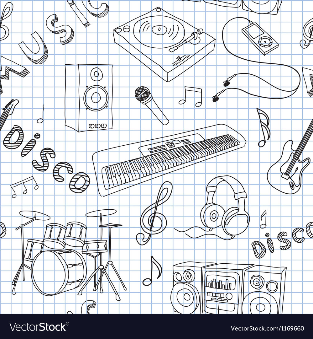 Seamless music vector | Price: 1 Credit (USD $1)