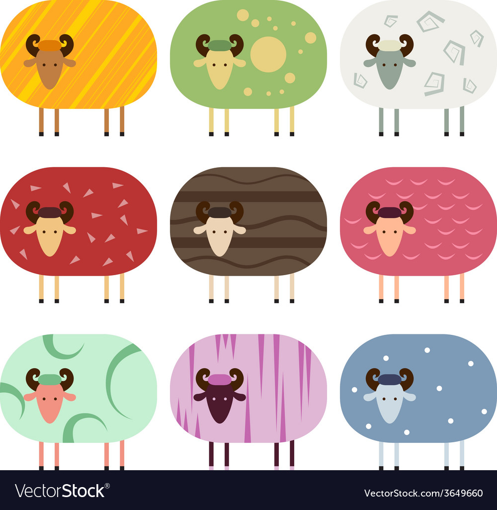 Sheep collection vector | Price: 1 Credit (USD $1)