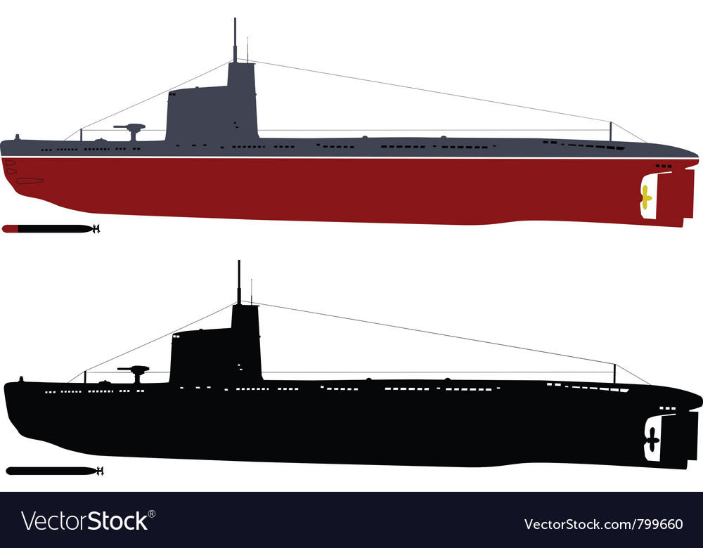 Submarine vector | Price: 1 Credit (USD $1)