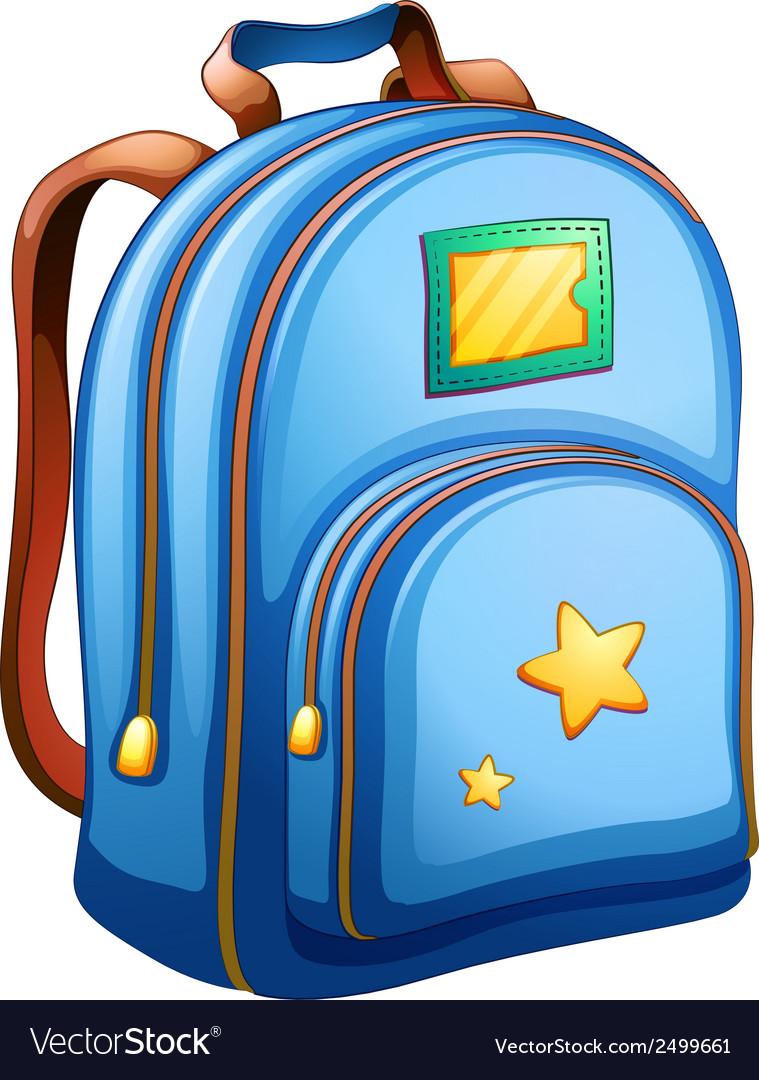 A blue school bag vector | Price: 1 Credit (USD $1)
