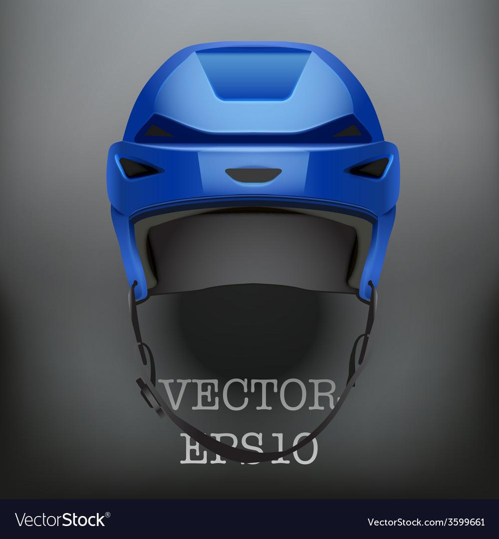 Background of classic blue ice hockey helmet vector | Price: 1 Credit (USD $1)