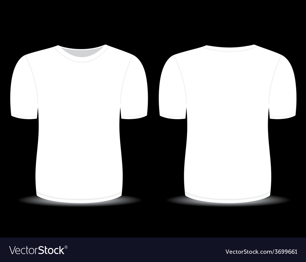 Blank t shirt white template vector | Price: 1 Credit (USD $1)