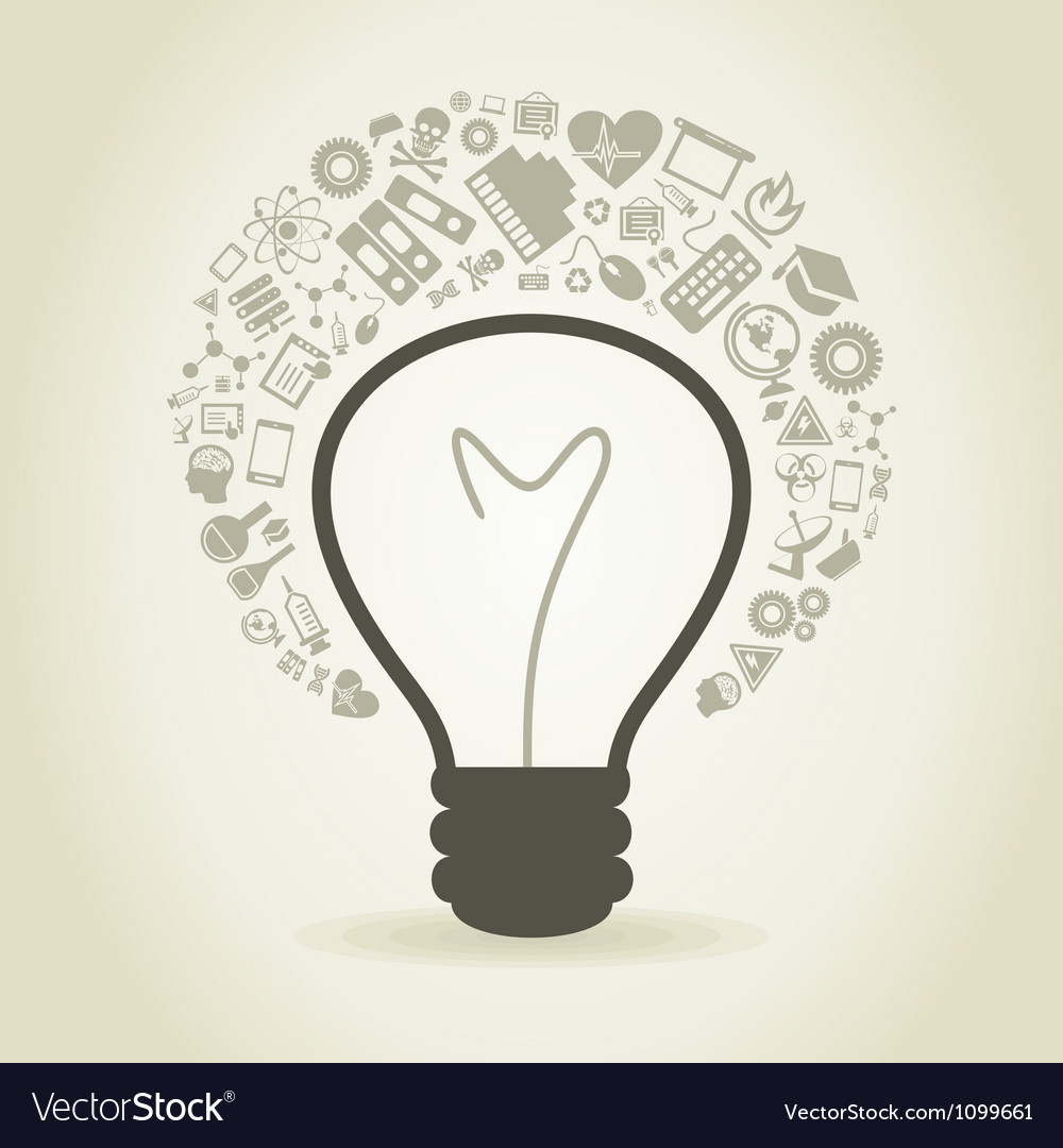 Bulb a science vector | Price: 1 Credit (USD $1)